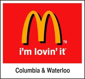 Visit your Waterloo or Columbia McDonald's!